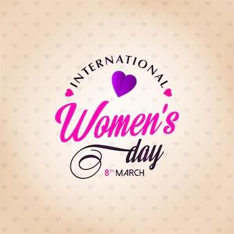 Bonne journée des femmes avec fond de lumière