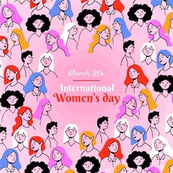 Bonne Journée Internationale De La Femme Vecteur Premium