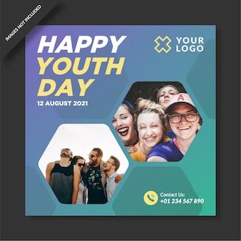 Bonne journée de la jeunesse sur les médias sociaux