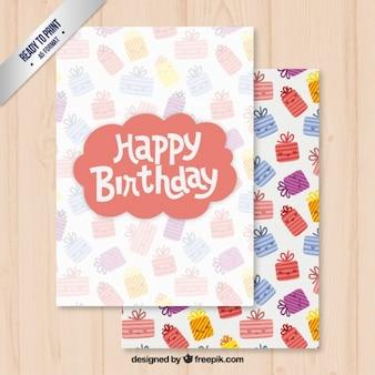 Bonne modèle de carte d'anniversaire