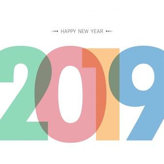 Bonne nouvelle année 2019.