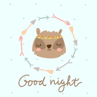 Bonne nuit boho blaireau