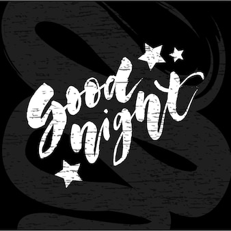 Bonne nuit, lettrage, vecteur, calligraphie, texte, typographie, phrase, type, tableau
