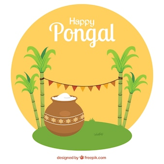 Bonne pongal illustration arrondi
