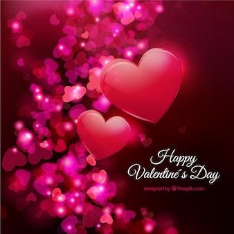 Bonne saint-valentin avec des coeurs