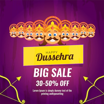 Bonne vente du festival de dussehra avec une réduction de 30 à 50%.