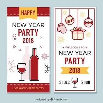 Bonnes bannières de nouvel an 2018
