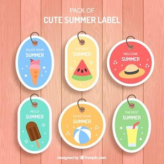 Bonnes étiquettes d'été