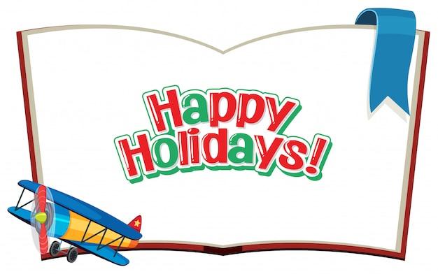Bonnes vacances sur le livre