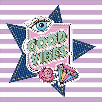 Bonnes vibrations diamant fleur yeux correctifs de mode