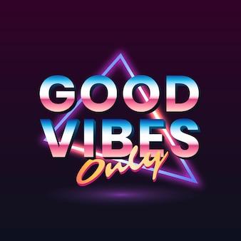 Bonnes vibrations seulement