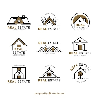 Bons logotypes immobiliers