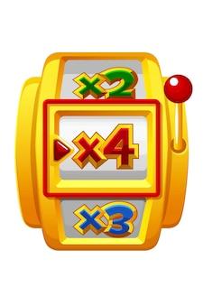 Bonus spin casino à mini roue dorée pour les jeux d'interface utilisateur.