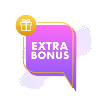 Bonus supplémentaire pour la conception de la promotion bannière surprise modèle de promotion de la bannière de remise