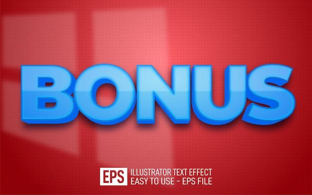 Bonus de texte 3d créatif, modèle d'effet de style modifiable