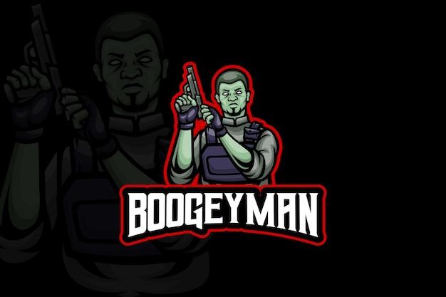 Le boogeyman - modèle de logo esport