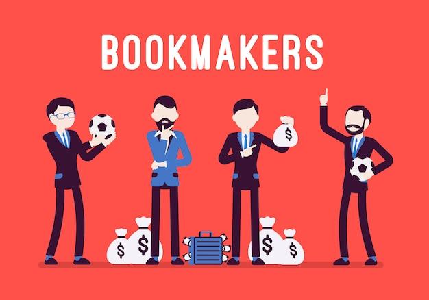 Bookmakers hommes avec de l'argent