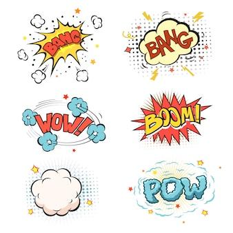 Boom. set d'explosion de bande dessinée