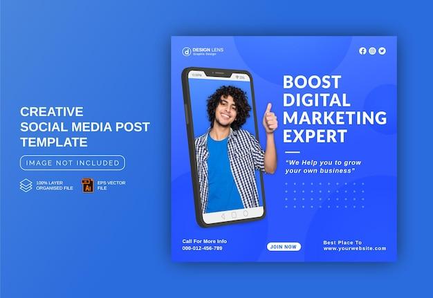 Boostez votre entreprise avec un expert en marketing numérique modèle de publication de bannière publicitaire instagram sur les médias sociaux