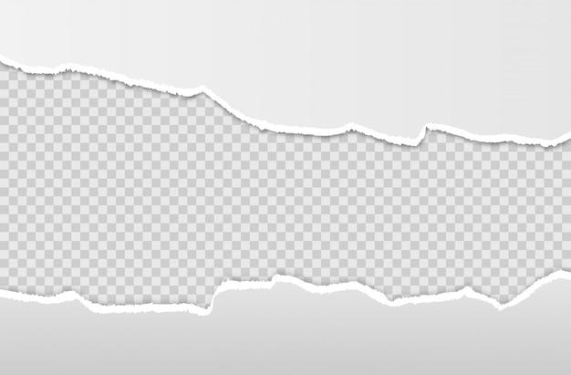 Bord de papier déchiré horizontal.