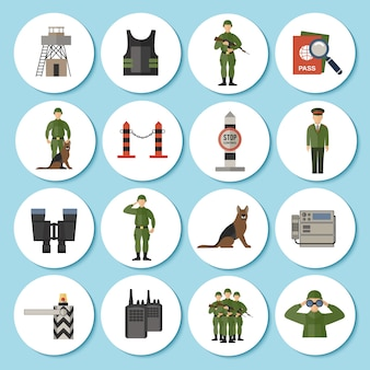 Border guard icône plate