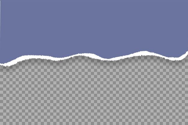 Bords de papier déchiré, texture horizontale transparente de fond