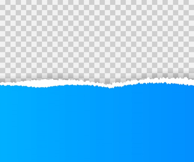 Bords de papier déchirés, sans couture horizontalement