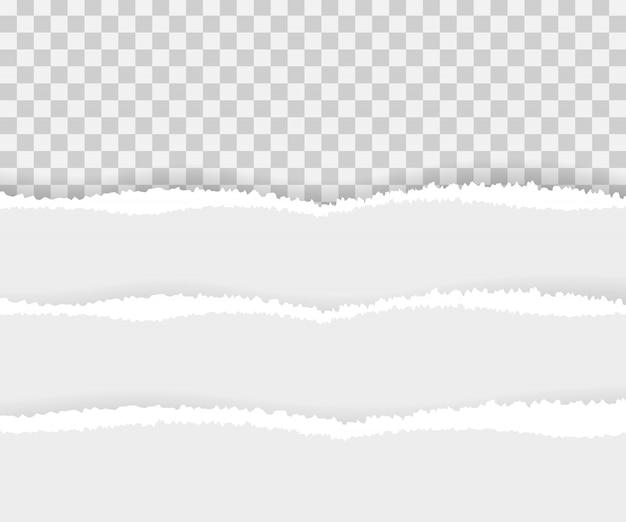 Bords de papier déchirés, sans soudure horizontalement.