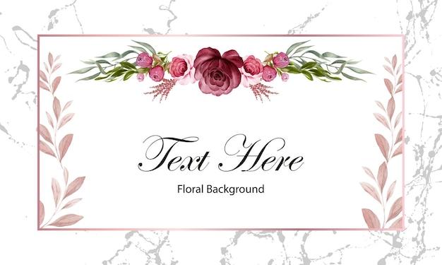 Bordure abstraite florale de cadre rose. illustration carte fleurs modèle design art décoration.
