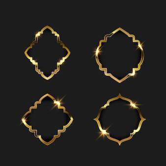 Bordure de cadre doré