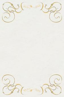 Bordure de cadre en filigrane d'or