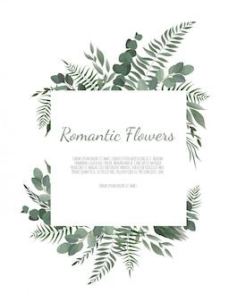 Bordure de cadre floral avec espace de copie.