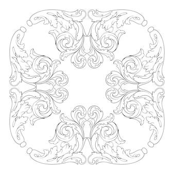 Bordure de cadre ornemental rétro