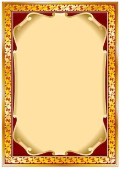 Bordure de cadre vintage coloré.