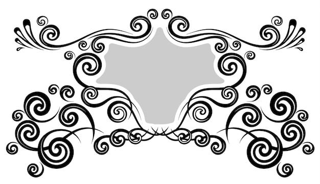Bordure de cadre vintage pour ornement floral monogramme