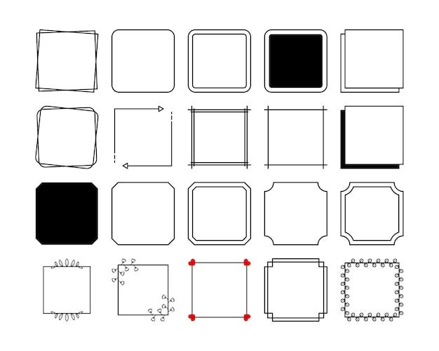 Bordure de cadres carrés dans un style vintage.