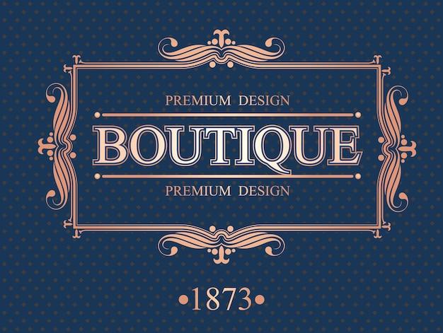 Bordure calligraphique de la boutique