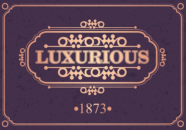 Bordure calligraphique luxueuse,