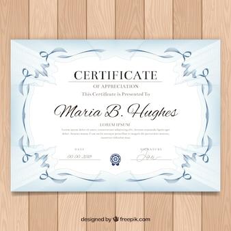Bordure de certificat ornemental avec style vintage