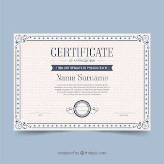 Bordure de certificat ornemental