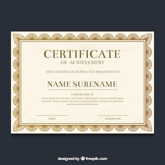 Bordure de certificat ornemental