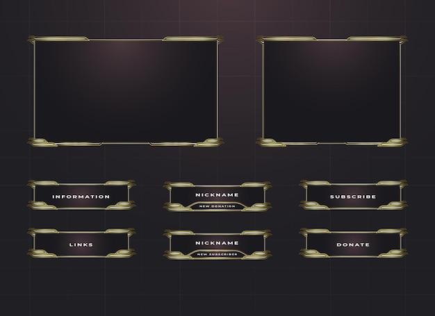 Bordure de contraction et ensemble de conception de superposition de panneau de menu
