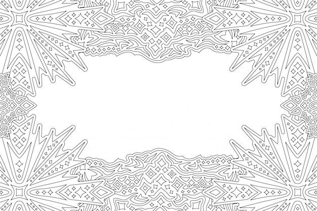 Bordure cosmique abstraite linéaire avec des étoiles stylisées
