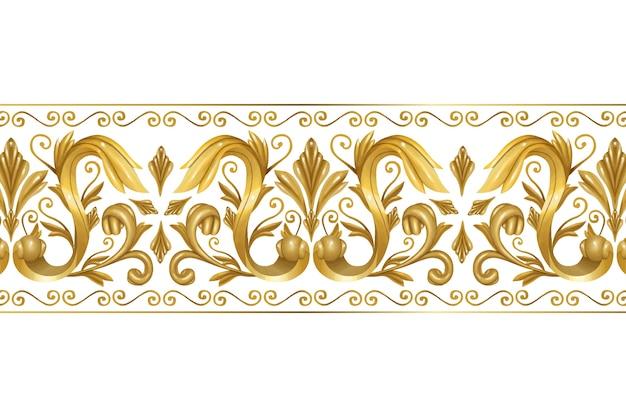 Bordure dorée ornementale