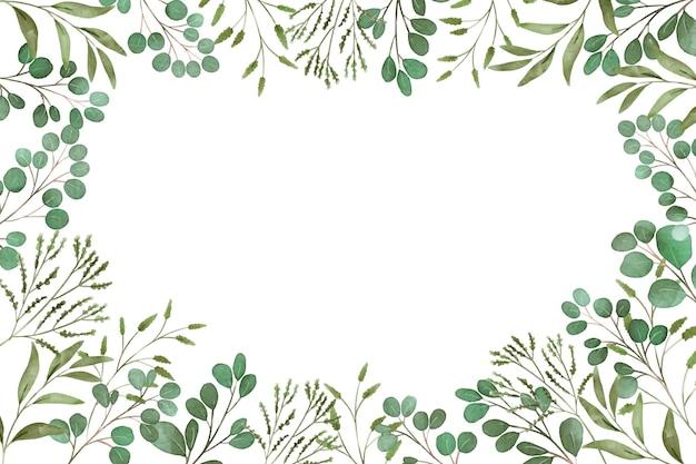 Bordure de feuilles copie espace