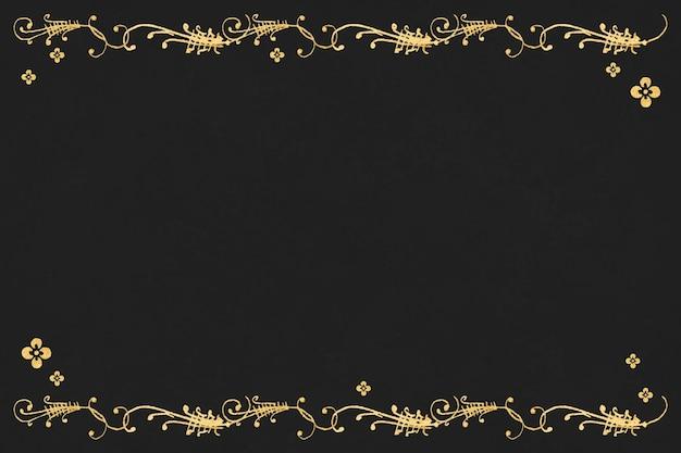 Bordure filigrane en or