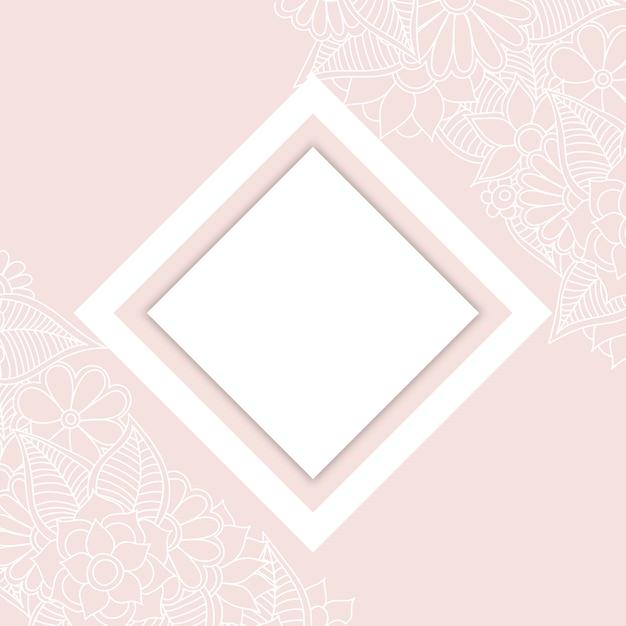 Bordure fleurie dessin blanc et noir