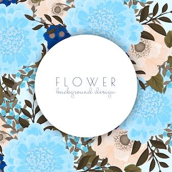 Bordure fleurie fleurs bleu clair