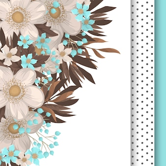 Bordure de fleurs florales