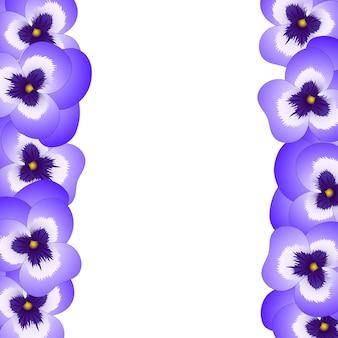 Bordure de fleurs de pensée violette